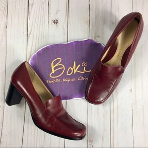 "Antonio Melani Oxblood ""Pretty"" Heeled Loafer 8.5"